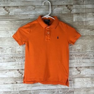 Polo Ralph Lauren Orange Polo Shirt Youth Size 5